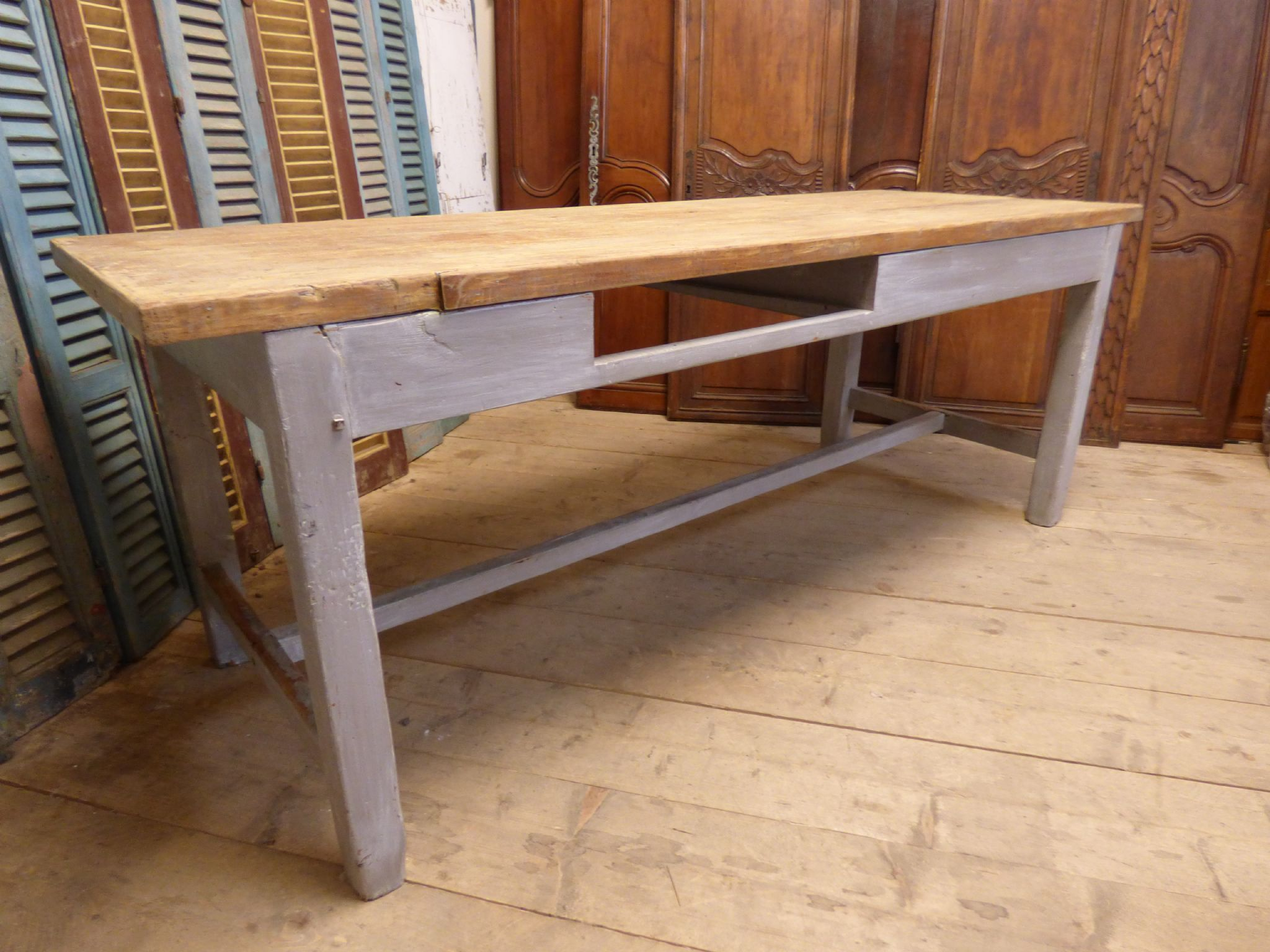 Antique farmhouse table - Antique French Farmhouse Table Ca124 Due In This Week